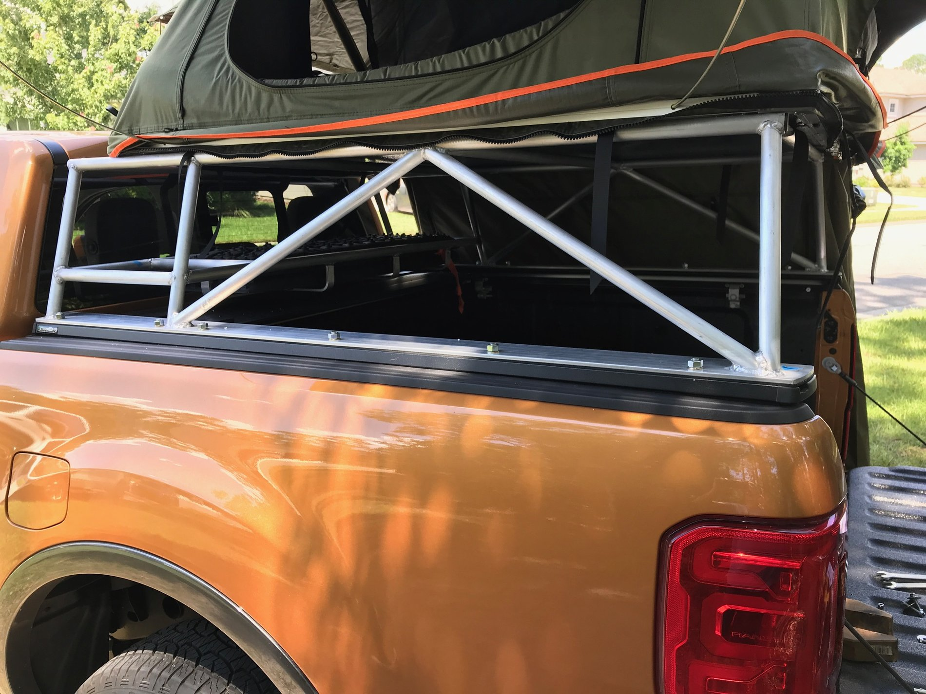 Custom Bed Rack And Rooftop Tent 2019 Ford Ranger And Raptor Forum 5th Generation Ranger5g Com