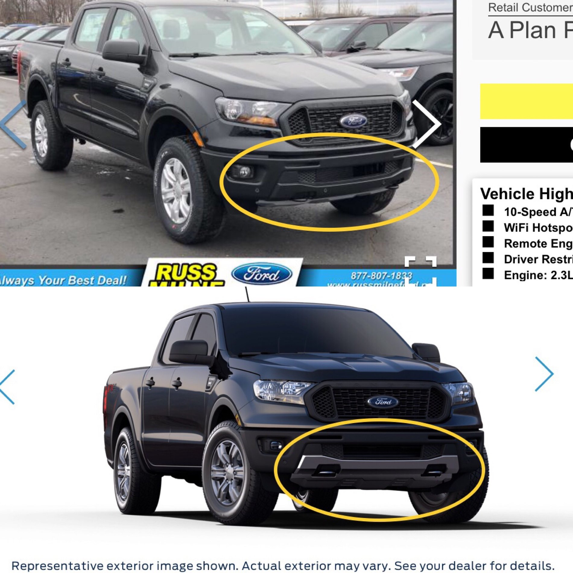 FX4 Front Valance Covers on Different Trims | 2019+ Ford