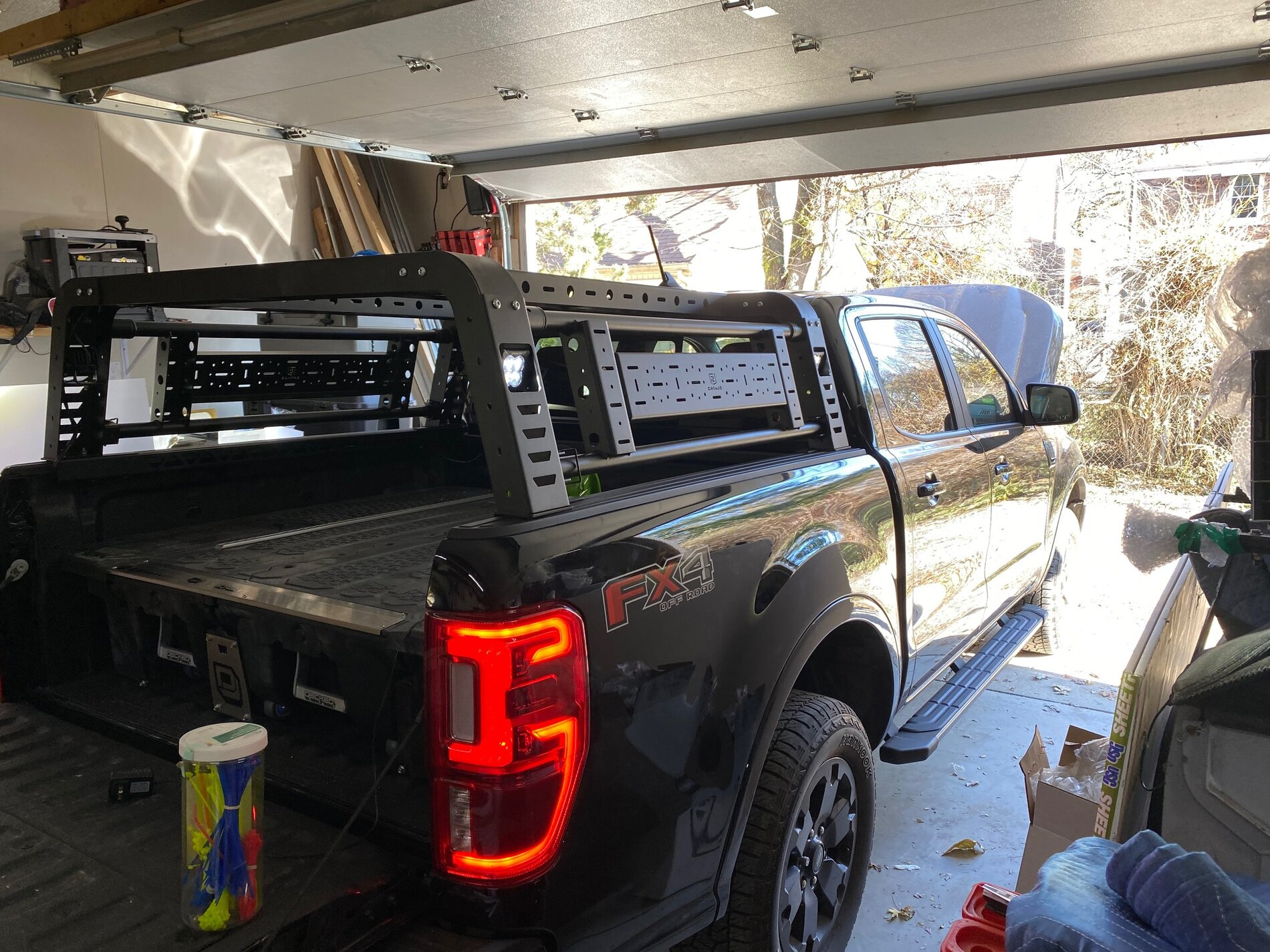 Installed Zroadz Access Overland Rack With Led Pods And Trigger 4 Plus 2019 Ford Ranger And Raptor Forum 5th Generation Ranger5g Com