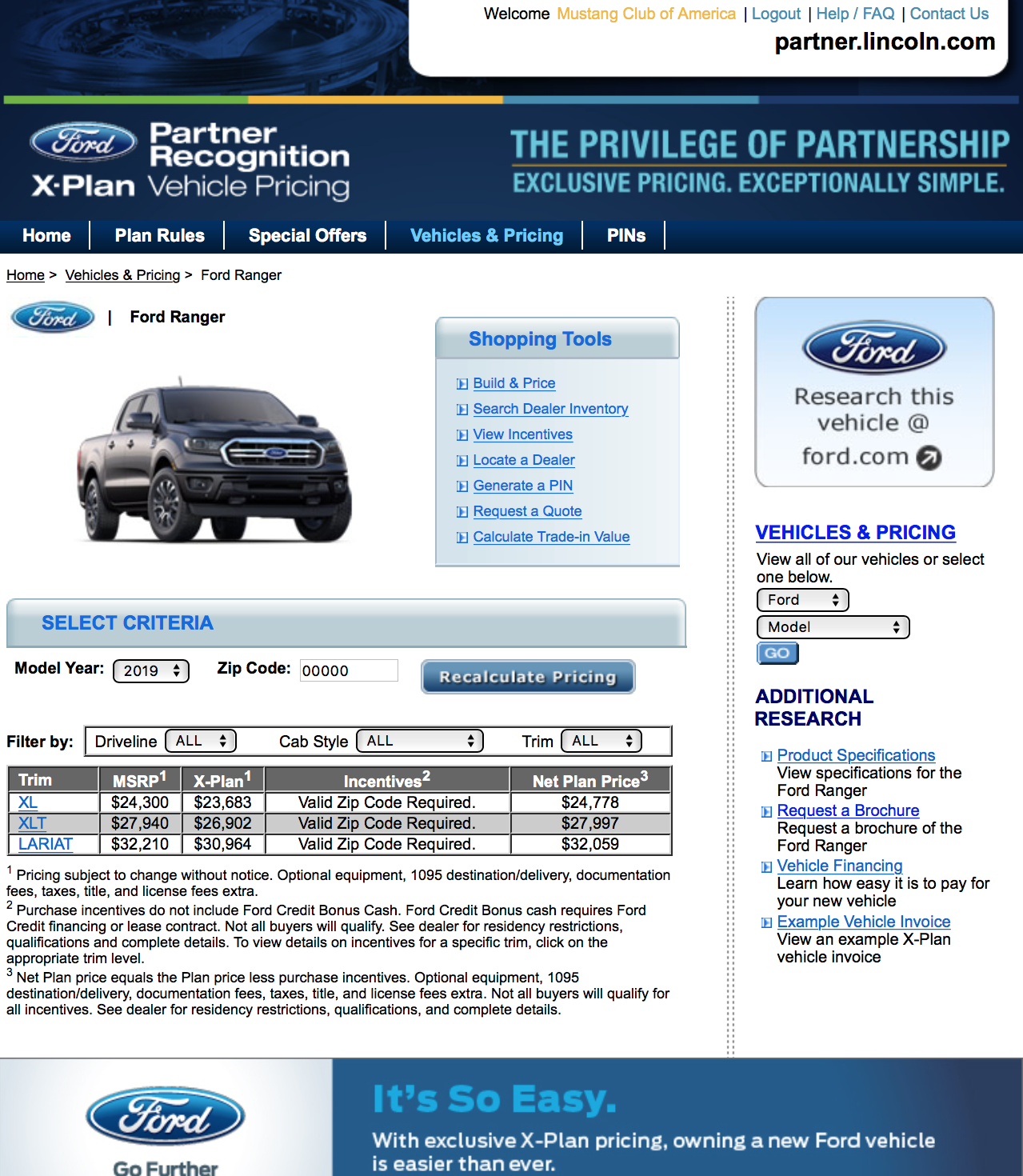 Ford X Plan Pricing >> X Plan Pricing And Build Configurator Now Live 2019 Ford