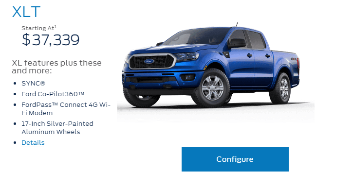ford canada build price tool for 2019 ranger is now live 2019 ford ranger and raptor forum. Black Bedroom Furniture Sets. Home Design Ideas
